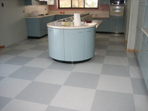 Vct tile no pattern required - Retro flooring kitchen ...