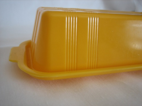 Yellow Butter Dish