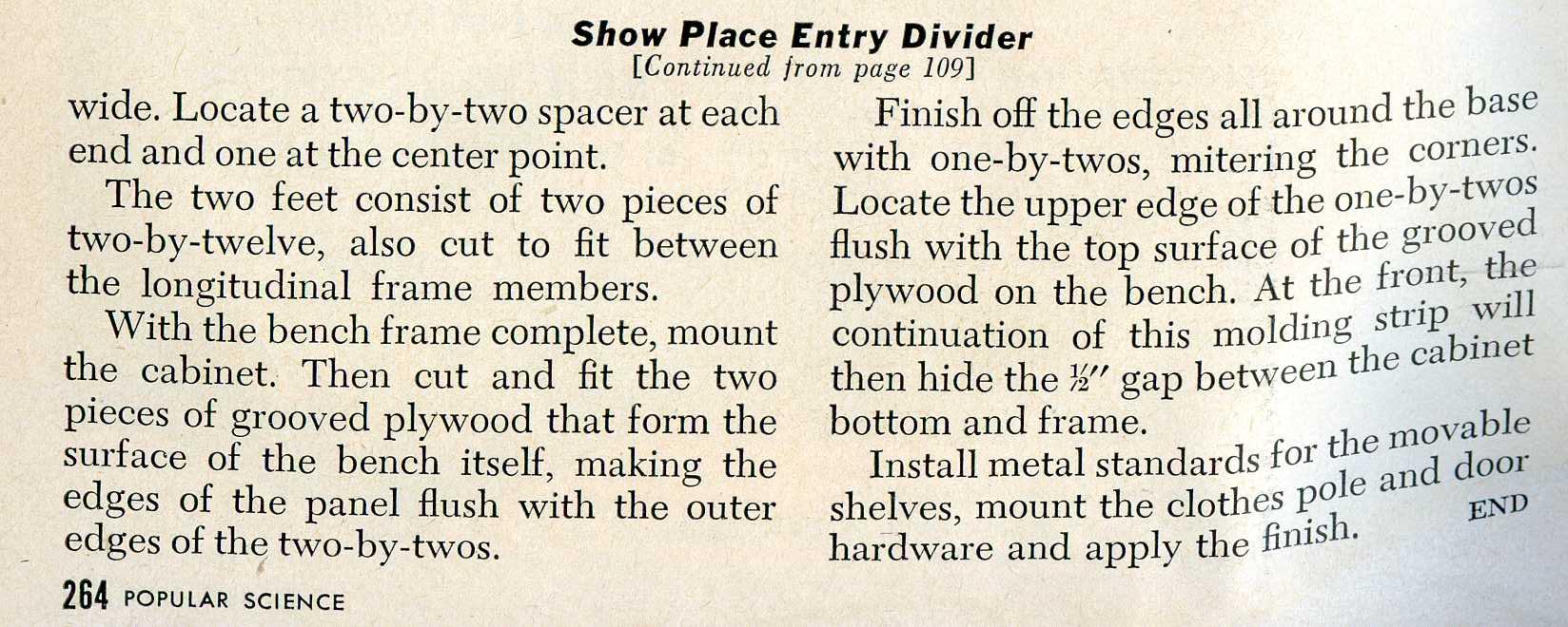 Entry Divider III